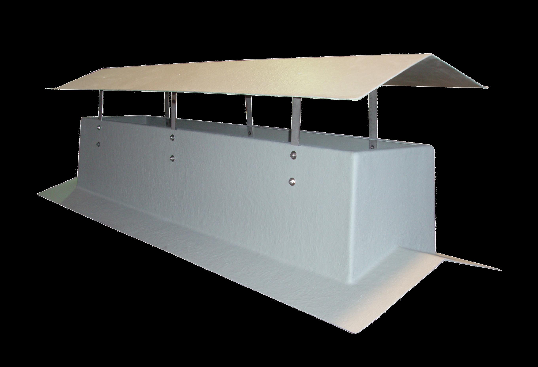 Ventilation plastivic for Plaque ondulee polycarbonate transparent
